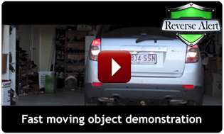 Reverse Alert demonstration with a fast moving object