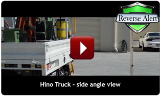 Side View of Reverse Alert fitted to Hino Truck